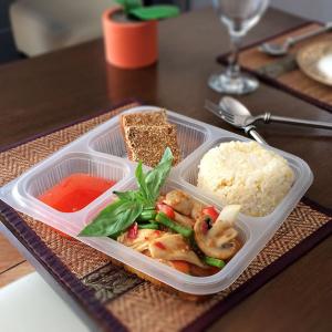 Stir-fried pad krapao set